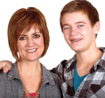 Brenda and the son who started it all.