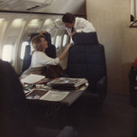 Aboard Air Force One with President Reagan