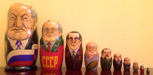 Russian political nesting dolls