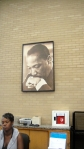 MLK watches over a patron