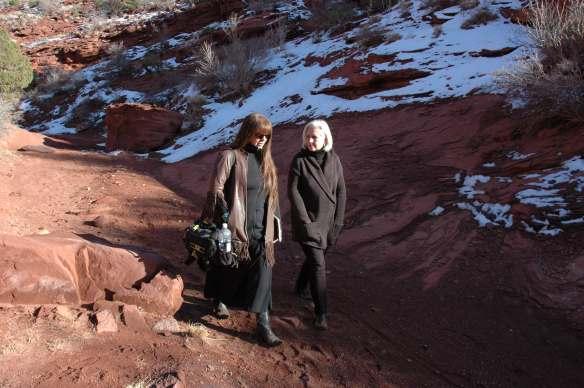 Filmmaker Laura Kamala with Terry Tempest Williams, Photo courtesy Debra Anderson
